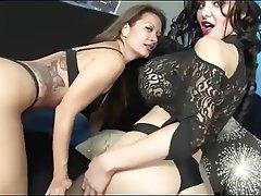 Lesbian, Lingerie, MILF, Stockings
