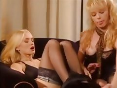 Blonde, German, Threesome, Vintage