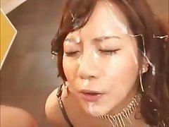 Asian, Bukkake, Facial, Gangbang