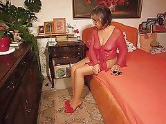 Fuß Fetisch, Deutsch, Oma, Reifen