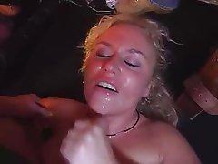 Blonde, Gangbang, German, Group Sex