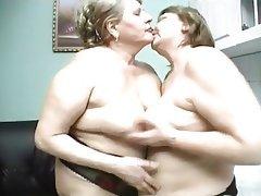 Lesbian, Granny, Big Boobs
