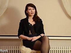 Brunette, Stockings, Upskirt