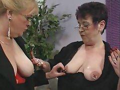 German, Granny, Lesbian, Masturbation