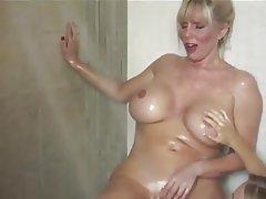 Blonde, Lesbian, Mature, Shower