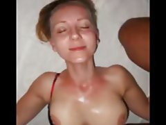 Amateur, Blondine, Blowjob, Gesichtsbehaarung