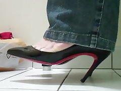 Foot Fetish, High Heels, Secretary