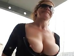 Big Boobs, Blowjob, Facial, German