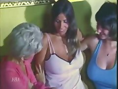 Hairy, Lingerie, Threesome, Vintage