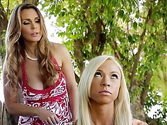 Blonde, Lesbian, MILF, Outdoor