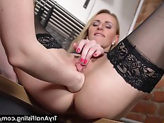 Anal, Blonde, Fisting, Kitchen
