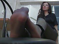 Babe, Foot Fetish, Stockings