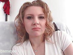 Casting, German, Small Tits, Masturbation