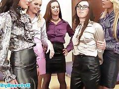 Babe, Lesbian, Stockings, Glamour