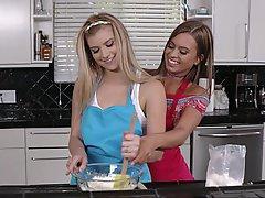Kitchen, Cute, Lesbian, Lesbian