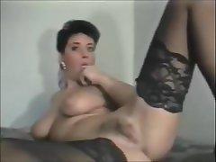 Brunette, Vintage, Gangbang, Big Tits