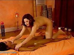 Asian, Brunette, Lesbian, Massage