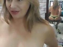 Webcam, Blonde, MILF, Lingerie