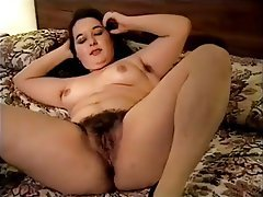 Amateur, Brunette, Hairy, Masturbation