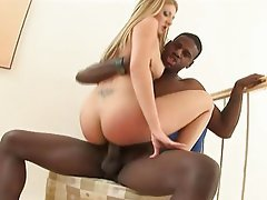 Babysitter, Blonde, Facial, Interracial