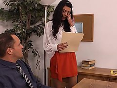 Blowjob, Brunette, Office, Teen