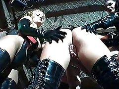 BDSM, Femdom, Gangbang, German