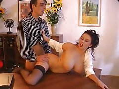 Big Boobs, Brunette, Stockings