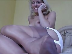Blonde, British, Lingerie, Masturbation