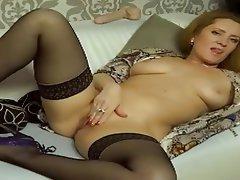 Lingerie, Masturbation, Russian, Stockings