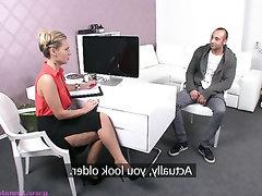 Babe, Big Cock, Blowjob, Casting