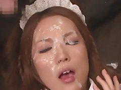 Bukkake, Sperma v obličeji, Japonsko