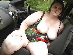 BBW, Masturbation, Orgasm, Outdoor