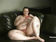 BBW, Big Boobs, Masturbation, Redhead