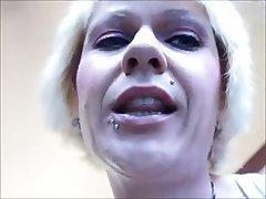 Blondine, Angespritzt, Femdom, POV