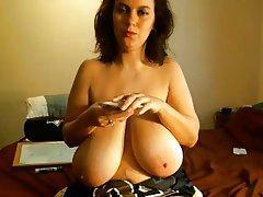 Grands seins, Brunettes, MILF, Webcam