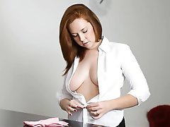 Big Boobs, British, POV, Redhead