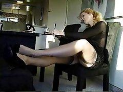 Blonde, Foot Fetish, Secretary, Softcore