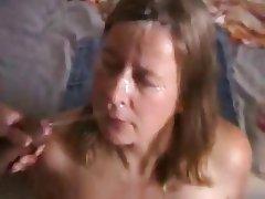 Bukkake, Sperma v obličeji, MILF