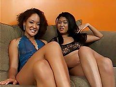 Lesbian, Strapon, Thai