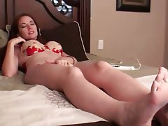 Foot Fetish, Lingerie, MILF, POV