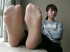 Asian, Foot Fetish, Pantyhose, Stockings