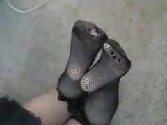 Amatriçe, Femme dominatrice, Fétichisme des pieds, Femmes en bas