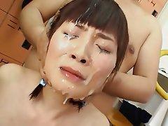 Bukkake, Výstřiky, Sperma v obličeji, Japonsko