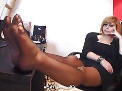 Çorapları, Kadin egemenligini, Ayak Fetiş, Tayt