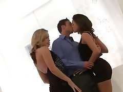 Cumshot, Facial, Nipples, Threesome