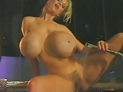 Big Boobs, Blonde, Masturbation, Shower