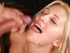Výstřik, Sperma v obličeji, Černovlásky, Skupinový sex
