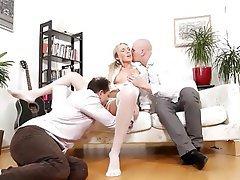 Anal, Blonde, Cumshot, Double Penetration