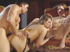 Babe, Blonde, Double Penetration, Group Sex
