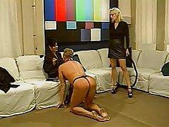 BDSM, Blonde, Femdom, Threesome